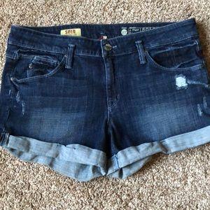 🔥SALE🔥 Sold Design Denim Cuffed Shorts